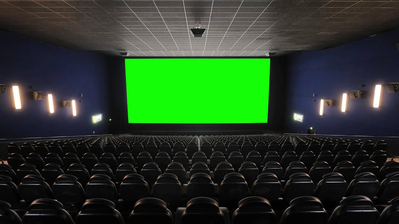 Cinema Movie Theater Movie House With Green Screen Freehdgreenscreen Footage Youtube