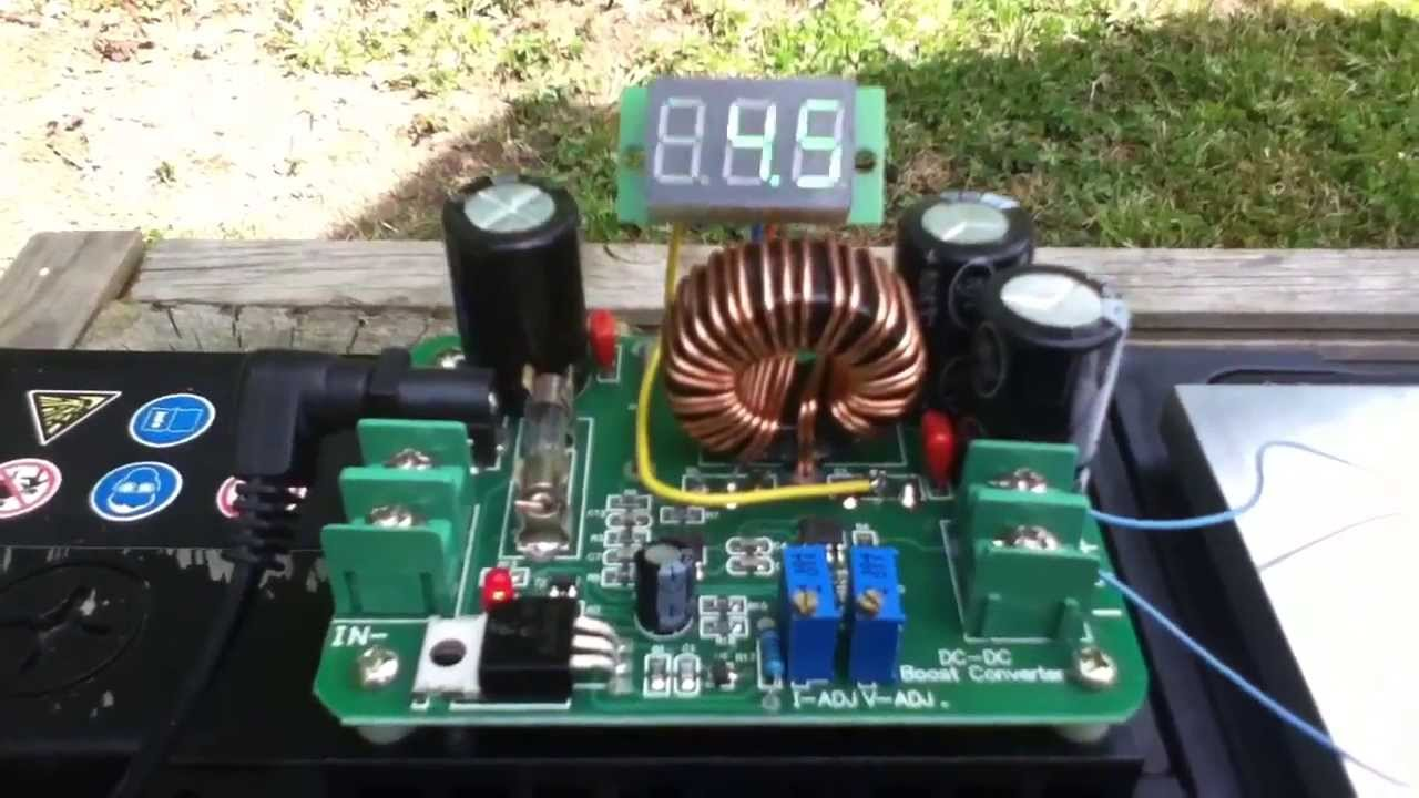 50w Led Powered From 12v Car Battery Using Dc Dc Boost