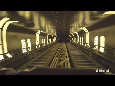 [4K] HyperSpace Mountain Hong Kong Disneyland - Space Mountain roller coaster