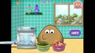 NEW мультик онлайн для девочек—Пу купаем игрушки вместе с Пу—Игры для детей