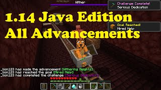 Getting every 1.14 Advancement on a rail [Minecraft Java Edition]
