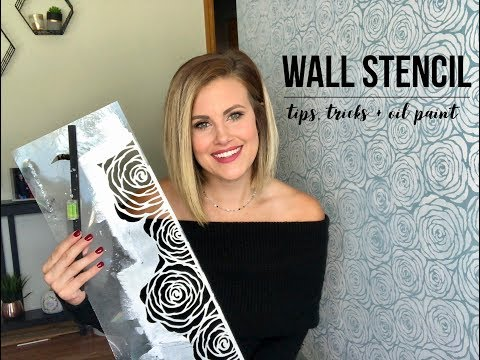 All Over Wall Stencil Tips + Tricks