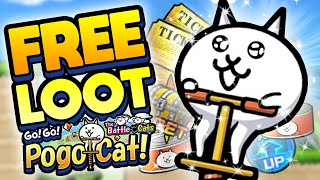 FREE BATTLE CAT LOOT in Go! Go! Pogo Cat