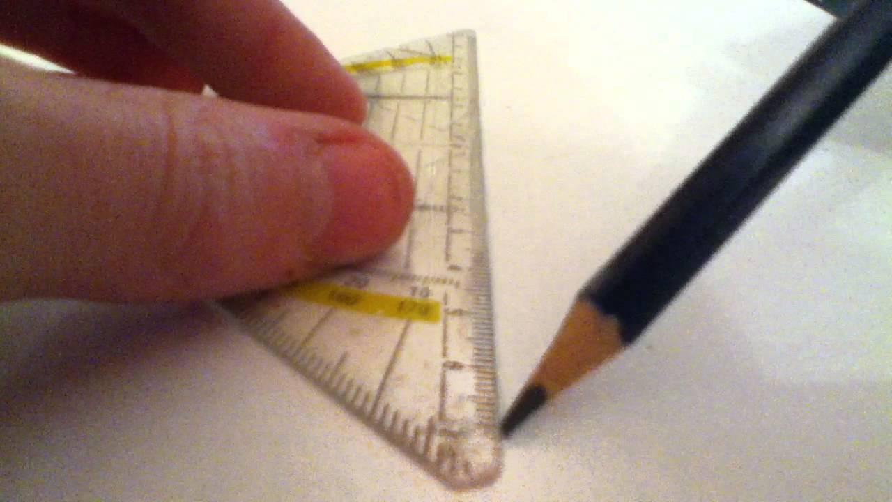 Mit einem Geodreieck parallele Linien zeichnen - so geht\'s - YouTube