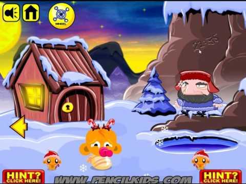 Игра Счастливая обезьянка на Северном полюсе прохождение Monkey GO Happy North Pole Walkthrough