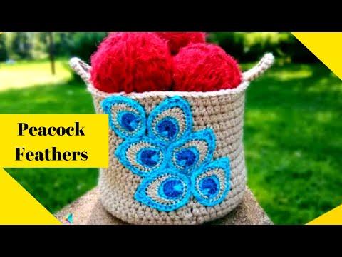 Crochet Basket Patterns For Beginners Crochet Peacock Feathers