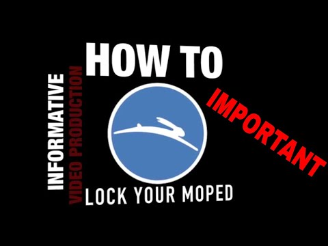 How to best lock a moped