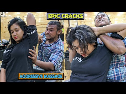 Aggressive Head & Body massage with Loud Neck & Hair Cracking / Indian ASMR