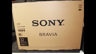 "Sony W600D 32"" HD Smart Tv Unboxing 