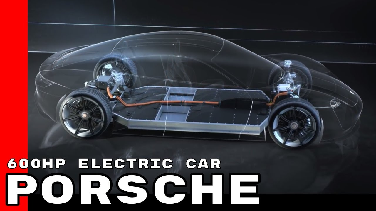 Porsche Mission E Concept Electric Car Youtube