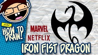 How to Draw the IRON FIST Dragon Logo (Netflix Series) | Narrated Easy Step-by-Step Tutorial