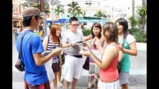 様々な国の人々から日本に向けてメッセージを頂きました。 タイのプーケ...