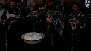Освящение колива - Свято-Ильинский монастырь(19 февраля 2010 Святая Церковь чтит память и чудо святого мученика Феодора Тирона произошедшее 1737 лет назад,..., 2010-02-19T15:22:09.000Z)