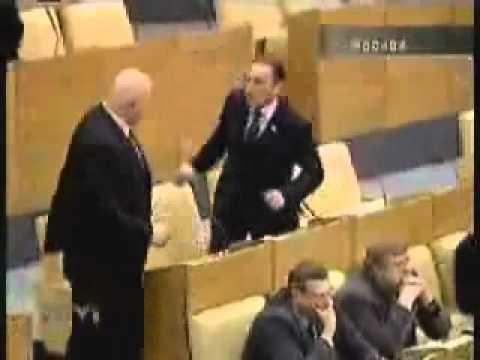 Fight in Russian Duma Parliament
