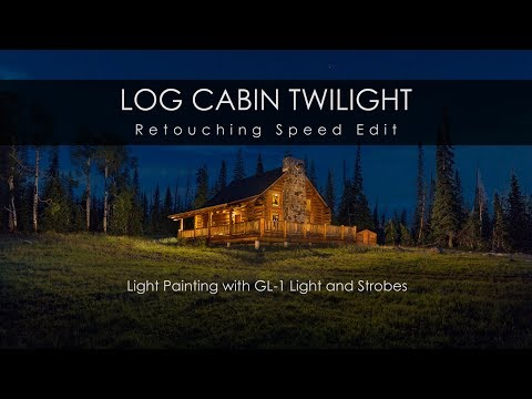 Log Cabin Twilight Photography - Light Painting Speed Edit