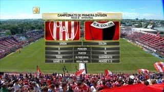 Unión vs. Colón. Fecha 12. Campeonato de Primera División 2016