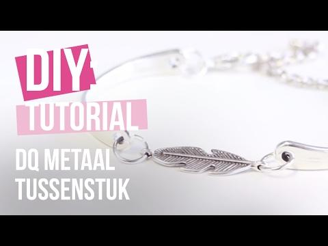 Sieraden maken: Armband met tussenstuk van DQ metaal ♡ DIY