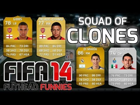 FIFA 14 - A SQUAD OF CLONES - Crazy Look-a-likes Inspired By Andre Marriner