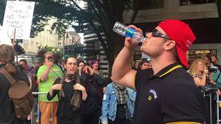 Proud Boys vs Literally shaking beta males in Seattle - August 13, 2017