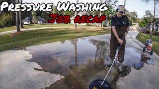 $600 PRESSURE WASHING JOB RECAP (TIME LAPSED) Ep. 5 **SATISFYING** Home & Driveway Pressure Wash