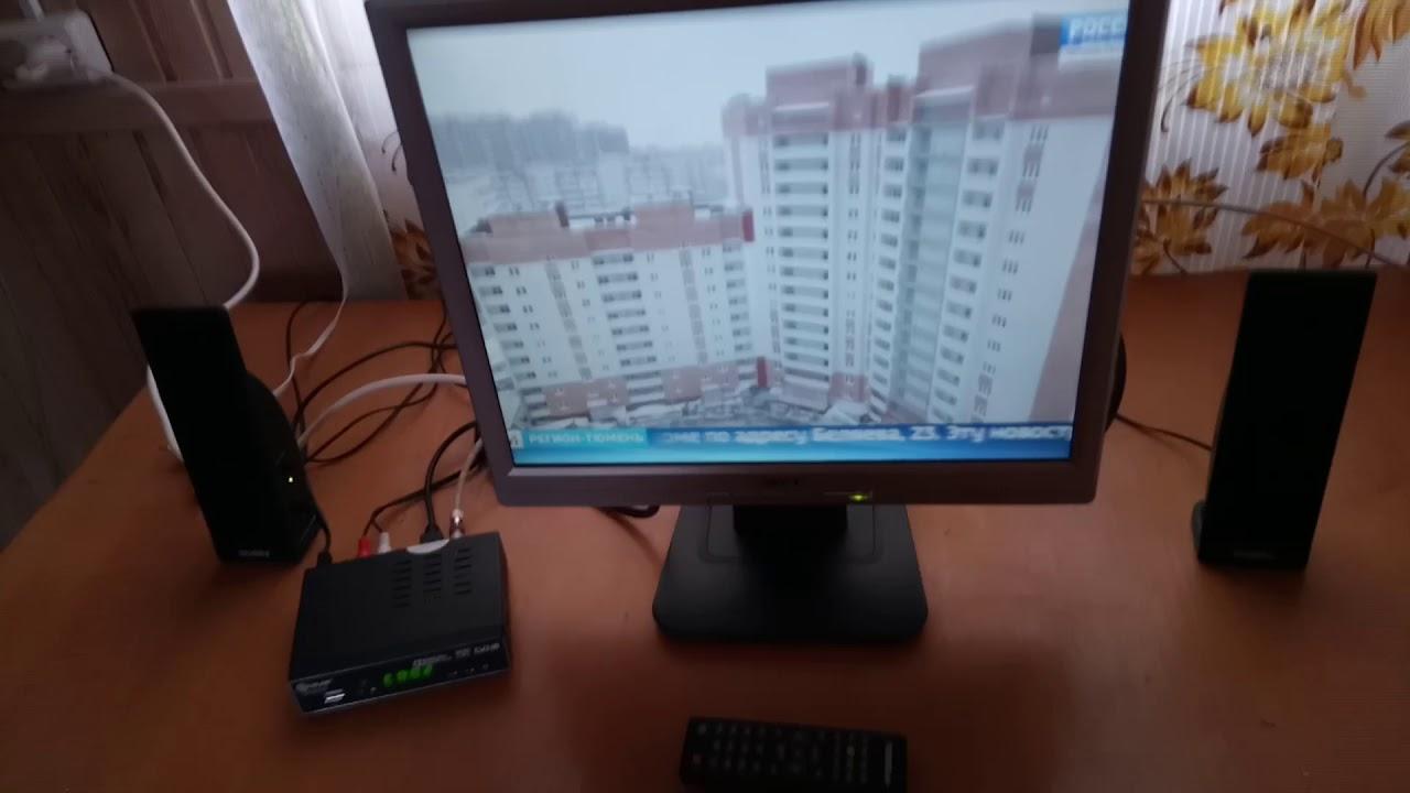 Телевизор из монитора для дачи DVB T2 размышления на тему.