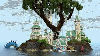 Elven Treehouse Islands | Minecraft Timelapse