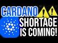 A CARDANO SHORTAGE IS COMING!!