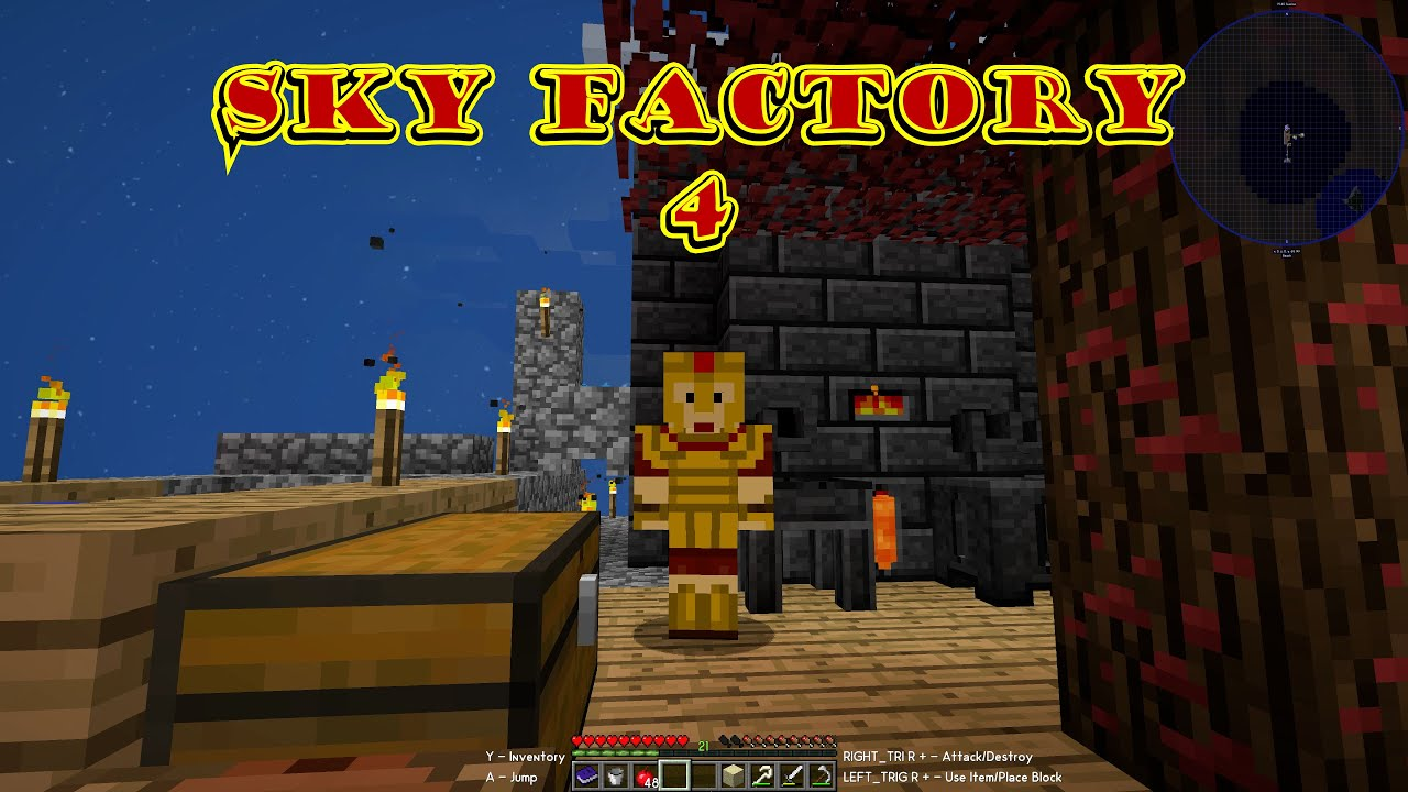 The Controller is a Lie! Console Noob Plays (Sky Factory 4) For The First Time