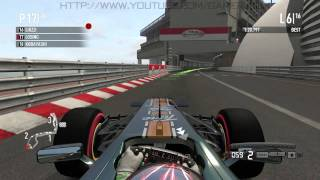 F1 2011(PC) | Monaco | Career Race | 16 Laps | Team Lotus