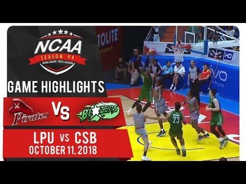 NCAA 94 MB: LPU vs. CSB | Game Highlights | October 11, 2018