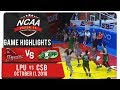 NCAA 94 MB: LPU vs. CSB | Game Highlights | October 11, 2018