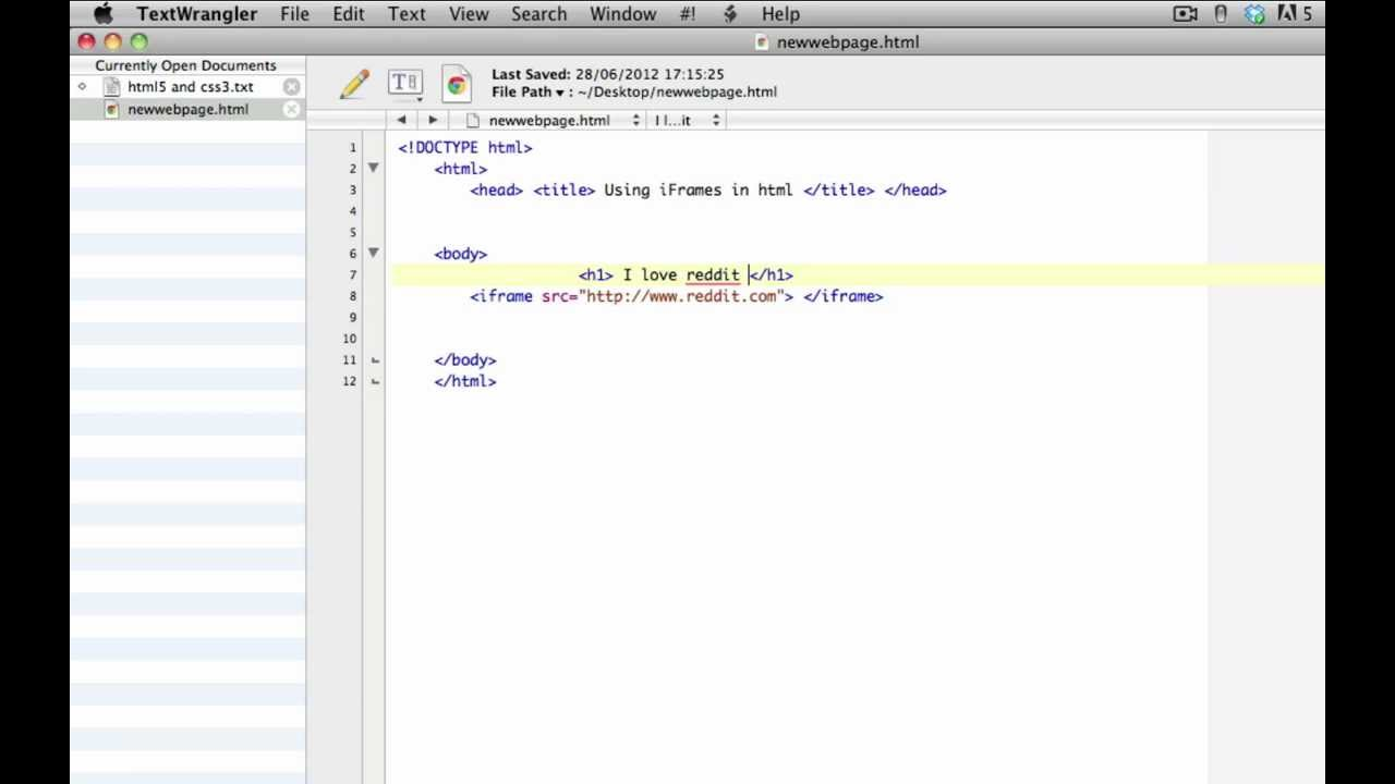 Beginner HTML & CSS tutorial 12 - iFrames - YouTube