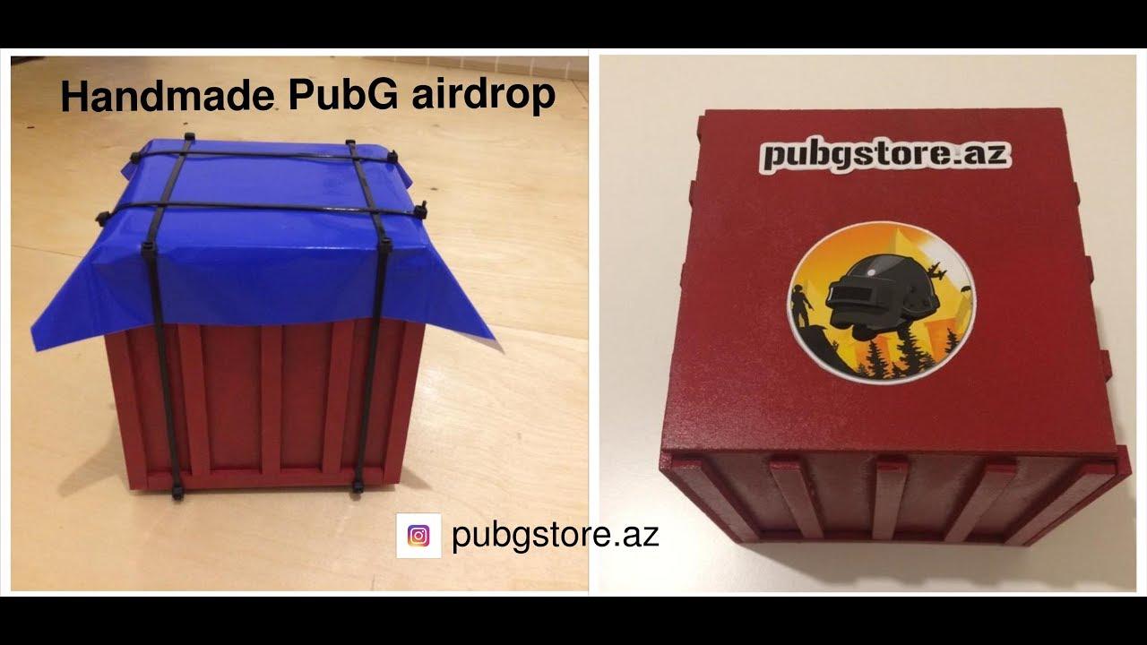 PubG Airdrop Giftbox (Handmade) unboxing || instagram-pubgstore.az