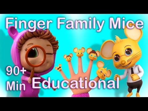 Finger Family Counting Mice (Learning Counting) | Popular Nursery Rhymes