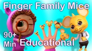 Repeat youtube video Finger Family Counting Mice (Learning Counting) | Popular Nursery Rhymes