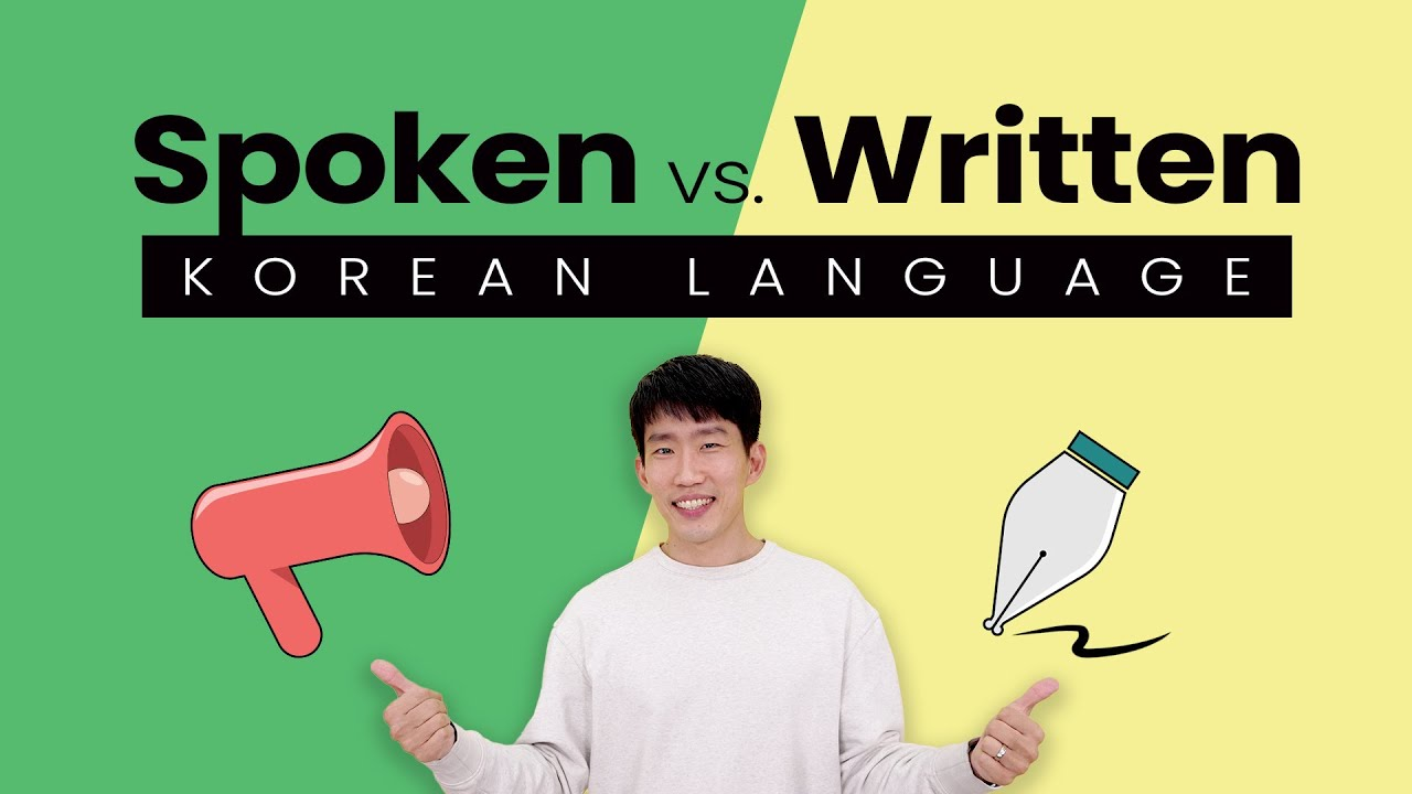 Spoken Korean vs. Written Korean - How big is the difference?