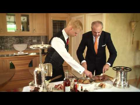 Diego Masciaga  of Waterside Inn Restaurant Prepares Canard a la Presse.mp4