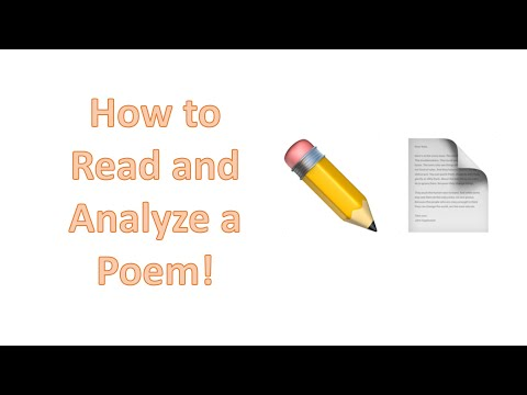 How to Read and Analyze a Poem