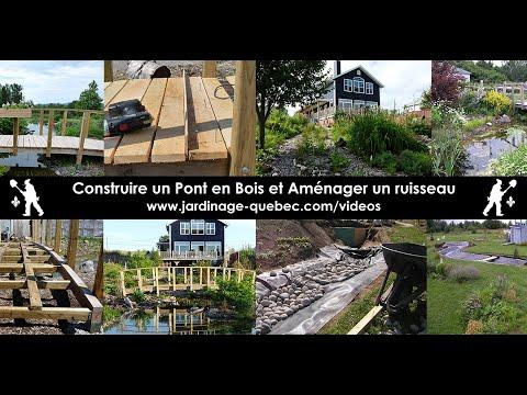 construire un pont de jardin et amenager un ruisseau de jardin