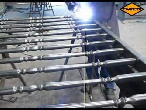 Videotutorial como hacer una baranda de hierro con tubos for Tubos de hierro rectangulares