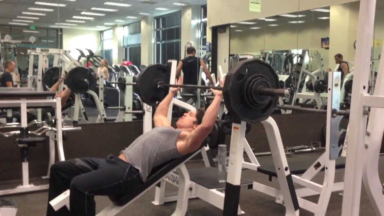 Incline Bench Press 260 Lbs X 6 Reps Youtube