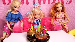 Elsa's Birthday   Special Guests ! Elsa & Anna Toddlers