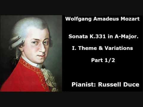 Mozart Piano Sonata No.11 In A Major K.331: I. Theme & Variations