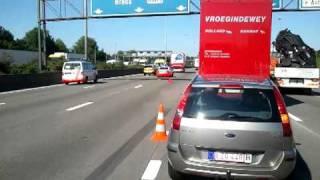 Ongeval ring Antwerpen richting Nederland 3-5-2011