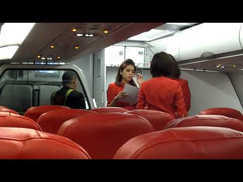 Beautiful stewardess airline AIR ASIA