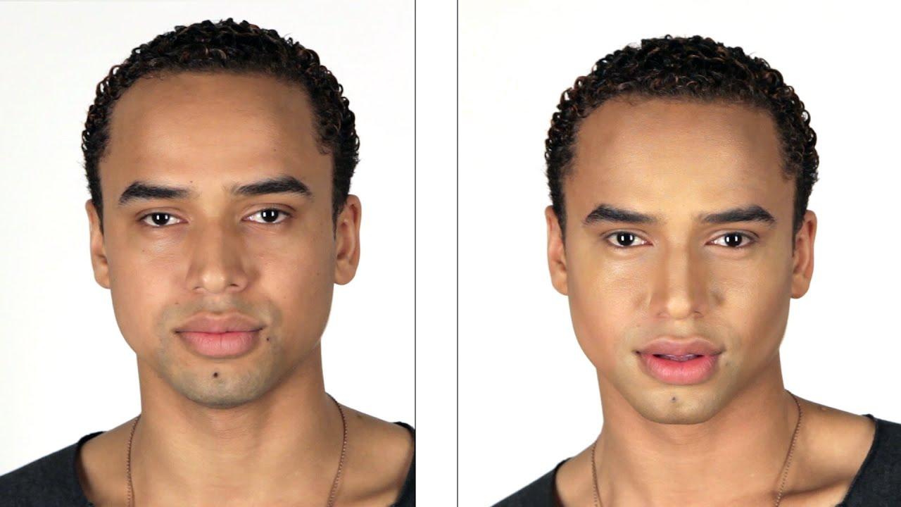 Guys with makeup