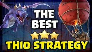 THE BEST TH10 ATTACK STRATEGY - Clash of Clans 3 Star Attacks! CoC Elite Gaming CWL War 2017