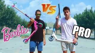 SCOOTER DE BARBIE VS SCOOTER PROFESIONAL!