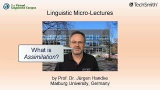 Linguistic Micro-Lectures: Assimilation