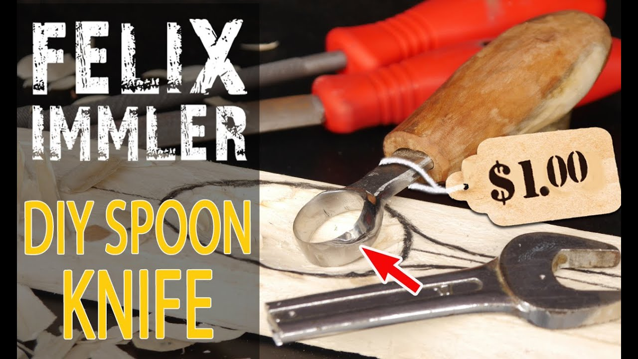 From an old Wrench into a Spoon Carving Knife (Scorp)  /  Hand Tool Transformation, for everyone!!